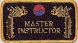 Stickabzeichen Master Instructor
