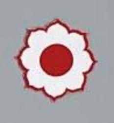 Stickabzeichen Blüte klein