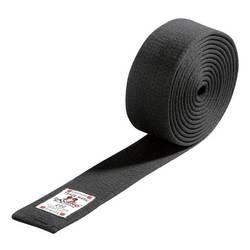Budo-Gürtel aus Baumwolle schwarz