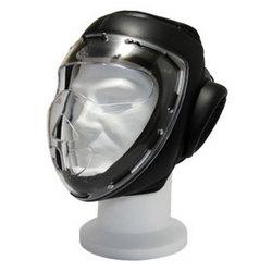 Kopfschutz mit Visier aus Plexiglas