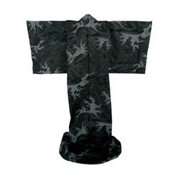 Japanischer Kimono Abendwelle schwarz