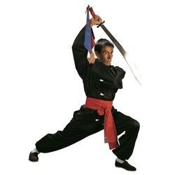 Traditioneller Kung Fu Anzug schwarz