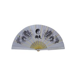 Tai-Chi Fächer Yin Yang weiß