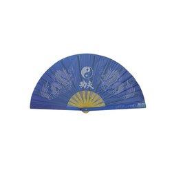 Tai-Chi Fächer Yin Yang blau