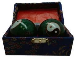 Qigongkugeln Yin Yang grün