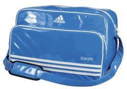 Retro Umhänge Tasche Karate Blau