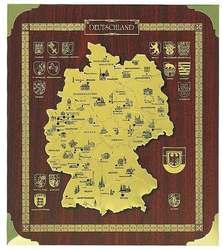 Ätzung Deutschland - Karte