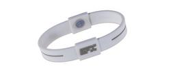 Silikon Sportarmband Weiß/Grau, Gr M