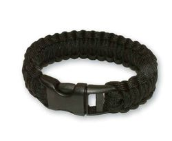 Survival bracelet black 8 inch