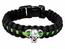 Survival Bracelet Schwarz/Neongrün