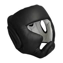 Kopfschutz schwarz mit Jochbeinschutz