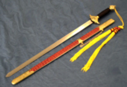 Tai Chi Schwert, feste Metallklinge (stumpf)