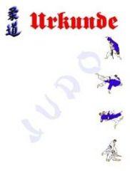 Urkunde Judo 2