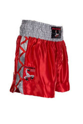 Thaibox Shorts in rot-silber