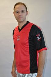 Kickbox Shirt in rot-schwarz