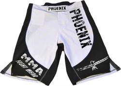 Stretch-Shorts für MMA in schwarz-weiß