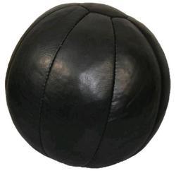 Medizinball Echtleder schwarz 5 kg 30 cm