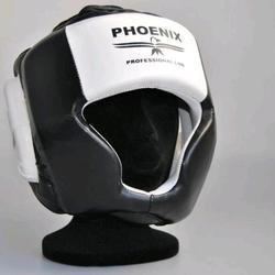 Kopfschutz Kunstleder schwarz-weiß