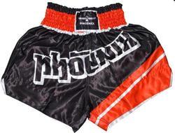Thai Shorts, FIGHTER schwarz-rot
