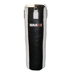 SMAI Leder Boxsack 190 cm gefüllt, schwarz-weiß