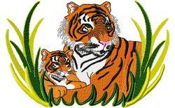 Stickmotiv Tiger mit Nachwuchs / Tiger & Cub DAC-WL1206