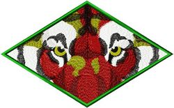Stickmotiv Tiger Auge / Tiger Eyes DAC-WL1579