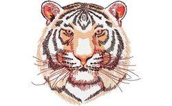 Stickmotiv Weißer Tiger / White Tiger DAC-WL2171