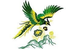 Stickmotiv Asiatischer Vogel / Oriental Bird (Phönix) - EMB-15031