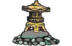 Stickmotiv Pagoden-Laterne / Pagoda Lantern - EMB-FL589