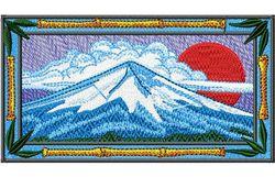 Stickmotiv Fujiyama, Fujisan / Mt. Fuji EMB-FA416