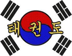 Rückenbestickung medium Taekwondo / Tae Kwon Do DAC-SP3766