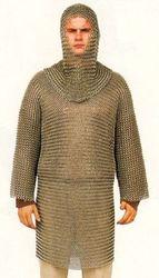 Kettenhemd mit Kopfteil