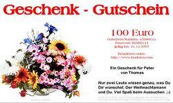 Brief-Geschenkgutschein mit Blumen-Design