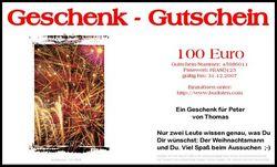 Brief-Geschenkgutschein Karten-Design  Feuerwerk