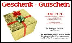 Brief-Geschenkgutschein
