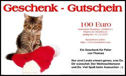 Brief-Geschenkgutschein Weihnachten