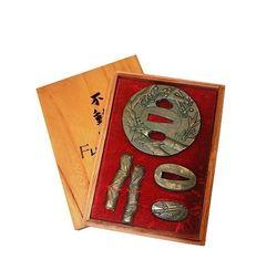 Tsuba-Set Motiv Bambus