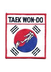 Stickabzeichen Koreanische Flagge