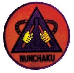 Stickabzeichen Nunchaku