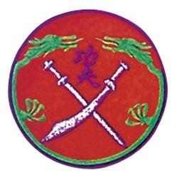 Stickabzeichen Drachenschwert