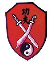 Stickabzeichen Kung-Fu-Schwerter