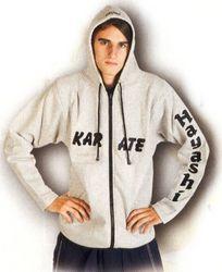 Kapuzenjacke Hayashi  Karate  grau
