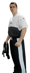 Baumwoll-Shirt  schwarz/weiß