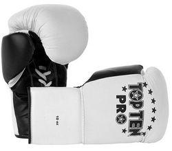 Boxhandschuh TOP TEN Pro weiss/schwarz