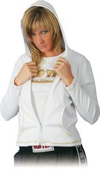Kapuzenjacke Cool Body weiß/gold