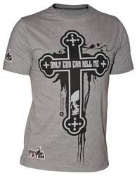 MMA Shirt Cross grau