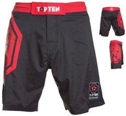 MMA Shorts Octagon in rot-schwarz