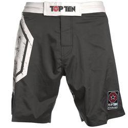 MMA Shorts Octagon in schwarz-weiß