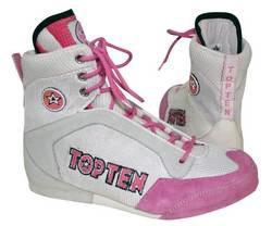 Boxstiefel  weiß/pink,