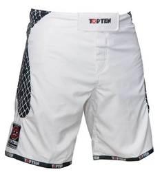 MMA-Short Cage weiß-schwarz